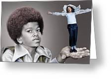 The Best Of Me - Handle With Care - Michael Jacksons Greeting Card by Reggie Duffie
