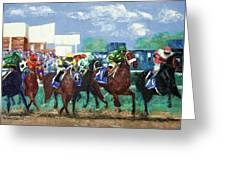 The Bets Are On Again Greeting Card by Anthony Falbo