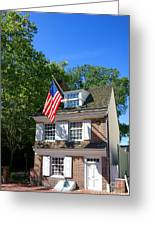 The Betsy Ross House Greeting Card by Olivier Le Queinec