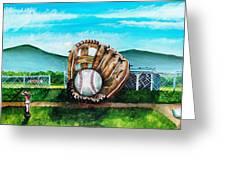 The Big Leagues Greeting Card by Shana Rowe