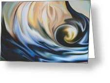 The Big Wave Greeting Card by Jessie J De La Portillo
