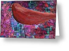 The Bird - 23a01a Greeting Card by Variance Collections