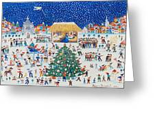The Birth Of Christ Greeting Card by Gordana Delosevic