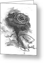 The Black Rose Greeting Card by Laurie D Lundquist