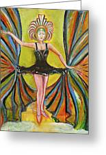 The Black Tutu Greeting Card by Tom Conway