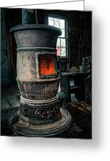 The Blacksmiths Furnace - Industrial Greeting Card by Gary Heller