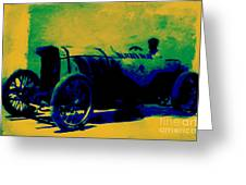 The Blitzen Benz Racer - 20130208 Greeting Card by Wingsdomain Art and Photography
