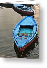 The Blue Boat Greeting Card by Kim Bemis