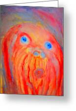 The Blue Eyed Hulder Greeting Card by Hilde Widerberg