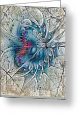 The Blue Mirage Greeting Card by Deborah Benoit