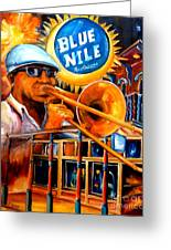 The Blue Nile Jazz Club Greeting Card by Diane Millsap
