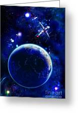 The Blue Planet Seas Of Life Greeting Card by Boon Mee