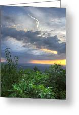 The Blue Ridge Mountains Greeting Card by Debra and Dave Vanderlaan