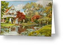 The Boathouse Greeting Card by Alfred Parsons