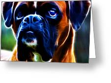 The Boxer - Electric Greeting Card by Wingsdomain Art and Photography