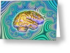 The Brain Greeting Card by Dennis D. Potokar