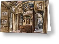 The Breakfast Room Greeting Card by Charles James Richardson