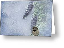 The Breath Of Old Man Winter Greeting Card by Diane Schuster