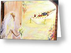The Bride Greeting Card by Helene Fallstrom