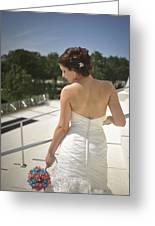 The Bride's Back Greeting Card by Mike Hope