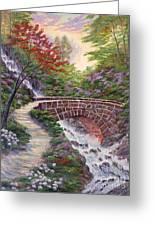 The Bridge Across Greeting Card by David Lloyd Glover