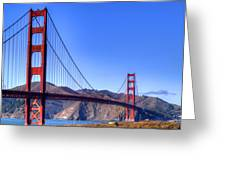 The Bridge Greeting Card by Bill Gallagher