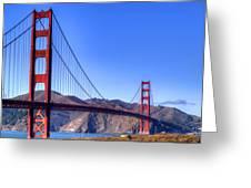 The Bridge Greeting Card by Bill Gallagher