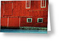 The Broad Side Of A Barn Greeting Card by Lois Bryan