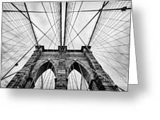 The Brooklyn Bridge Greeting Card by John Farnan