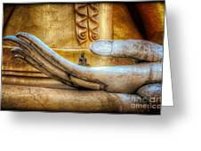 The Buddhas Hand Greeting Card by Adrian Evans