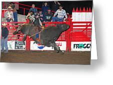 The Bull Rider Greeting Card by Larry Van Valkenburgh