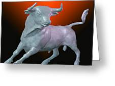 The Bull... Greeting Card by Tim Fillingim