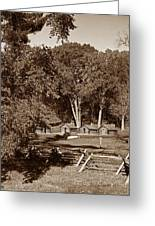 The Cabins Greeting Card by Skip Willits