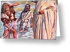 The call of Andrew and Peter Greeting Card by Harold Copping