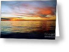 The Calm Before Hurricane Katrina In The Gulf Of Mexico Off The Coast Of Louisiana Greeting Card by Michael Hoard