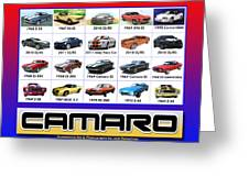 The Camaro Poster Greeting Card by Jack Pumphrey