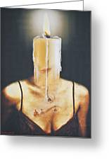 The Candle Flame Greeting Card by Larry Butterworth