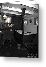 The Captains Quarters Greeting Card by Cheryl Young
