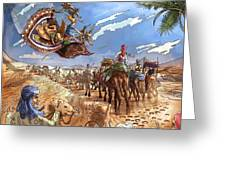 The Caravan In The Sahara Greeting Card by Reynold Jay