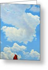 The Cardinal Greeting Card by James W Johnson