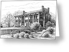 The Carnton Plantation in Franklin Tennessee Greeting Card by Janet King