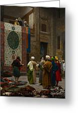 The Carpet Merchant Greeting Card by Jean Leon Gerome