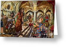 The Cave Of Ali Baba Greeting Card by Reynold Jay