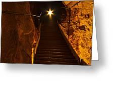 The Cavern Ghost Greeting Card by KENAN SIPILOVIC