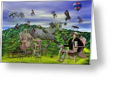 The Chairs Of Oz Greeting Card by Betsy C Knapp