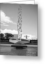 The Challenger Memorial - Bayfront Park - Miami - Black And White Greeting Card by Ian Monk