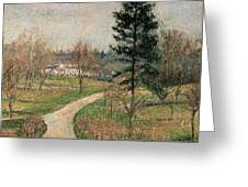 The Chateau At Busagny Greeting Card by Camille Pissarro