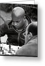 The Chess Player Greeting Card by Bernard  Barcos