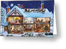 Christmas House Greeting Card by Steve Crisp