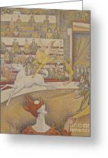 The Circus Greeting Card by Georges Pierre Seurat